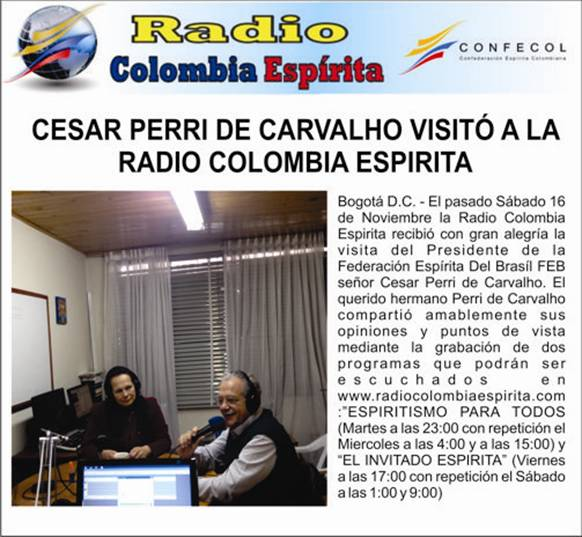 10-Bogota-Gravacao Radio Colombia Espirita