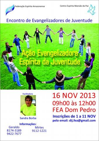 cartaz encontro evangelizzdores juventude