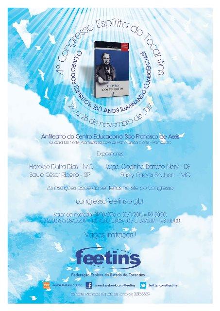 4º congresso espírita do tocantins - feetins 3