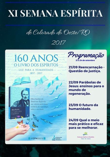 semana espírita do colorado oeste - FERO