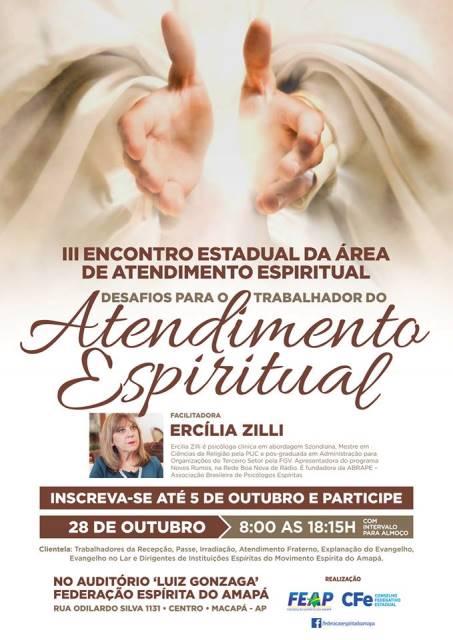 3º encontro estadual da área de atendimento espiritual - FEAP