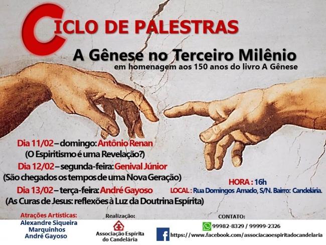 Ciclo de palestras A Gênese no Terceiro Milênio - FERN