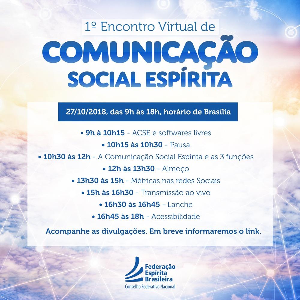 Encontro Virtual de Comunicação Espírita
