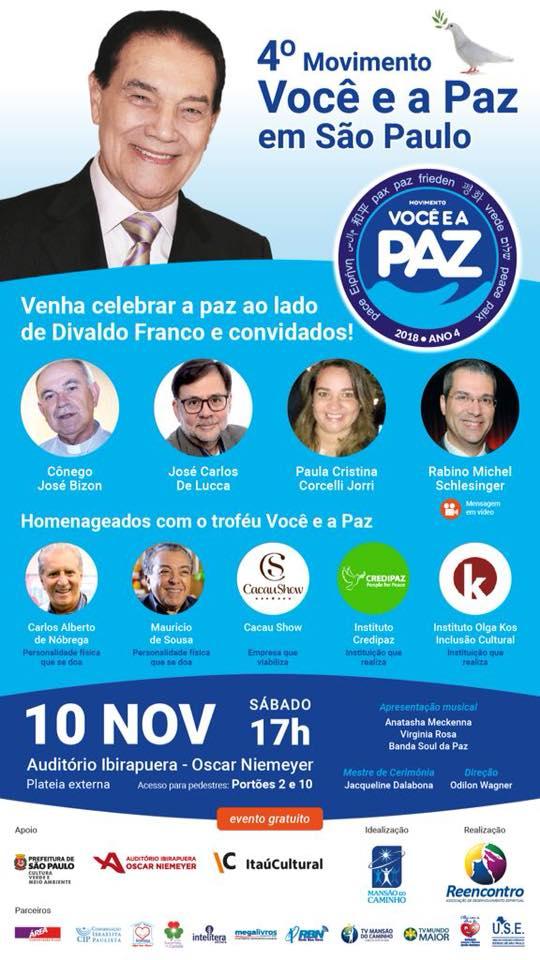 Movimento Você e a Paz em São Paulo